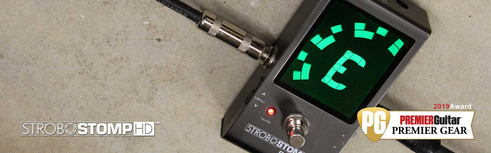 New for 2019: StroboStomp HD | Coming Soon! | Peterson Strobe Tuners
