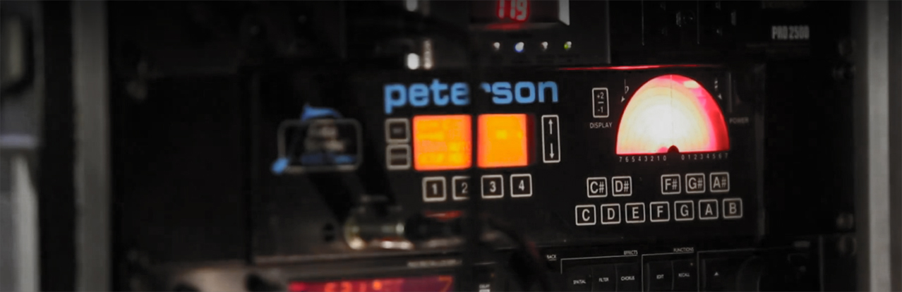 MANUAL NOTE SELECTION | Peterson Strobe Tuners