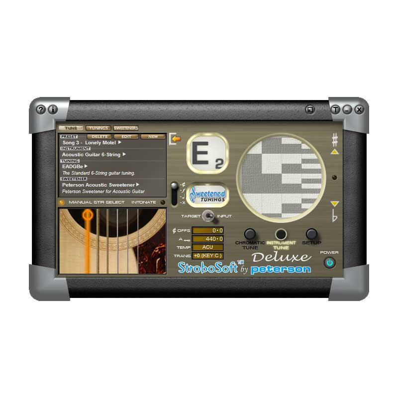 Recording studio standard tuning on your PC or Mac, Sweetened Tuning presets for E9, C6, A6 & C13 tunings. | Peterson Strobe Tuners