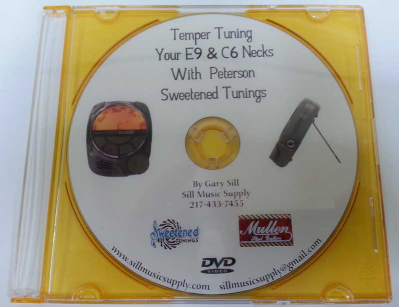 DVD instructional video on tuning your E9 and C6 necks on the Steel Guitar with the Peterson StroboPlus HD. | Peterson Strobe Tuners