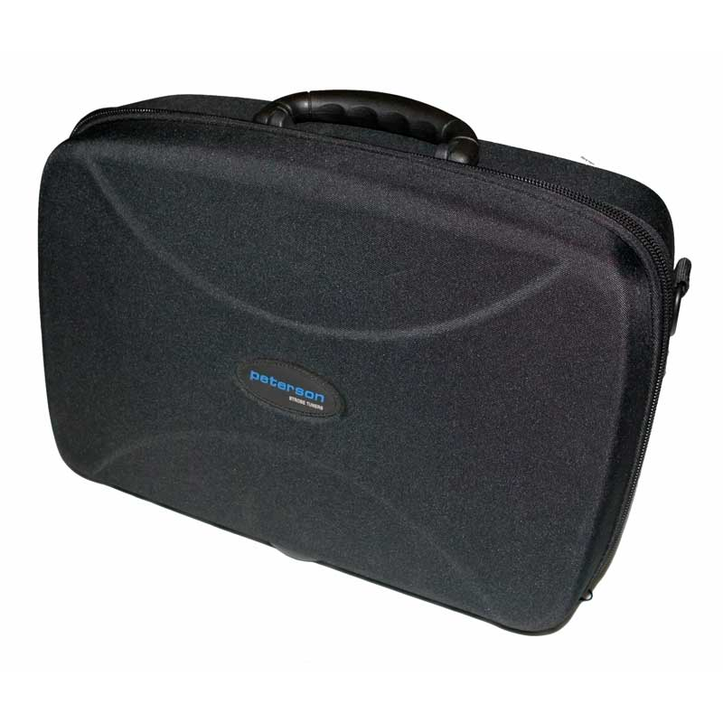 Premium road-worthy carrying case with luggage handle, form fit for tuner and