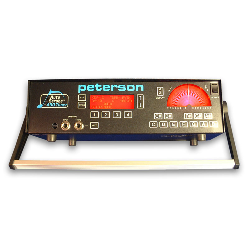 The Peterson AutoStrobe 490 is agreed by music students, technicians, and professionals to be the standard by which all tuners are measured. | Peterson Strobe Tuners